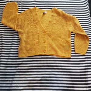 Yellow Womens Cardigan